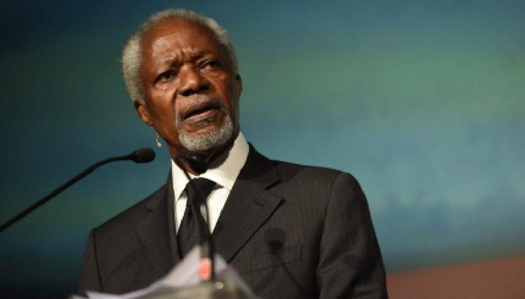 Muere Kofi Annan, ex secretario general de la ONU. Noticias en tiempo real