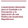 Lineamientos Generales para el Combate a la Corrupción y la Aplicación de una Política de Austeridad Republicana