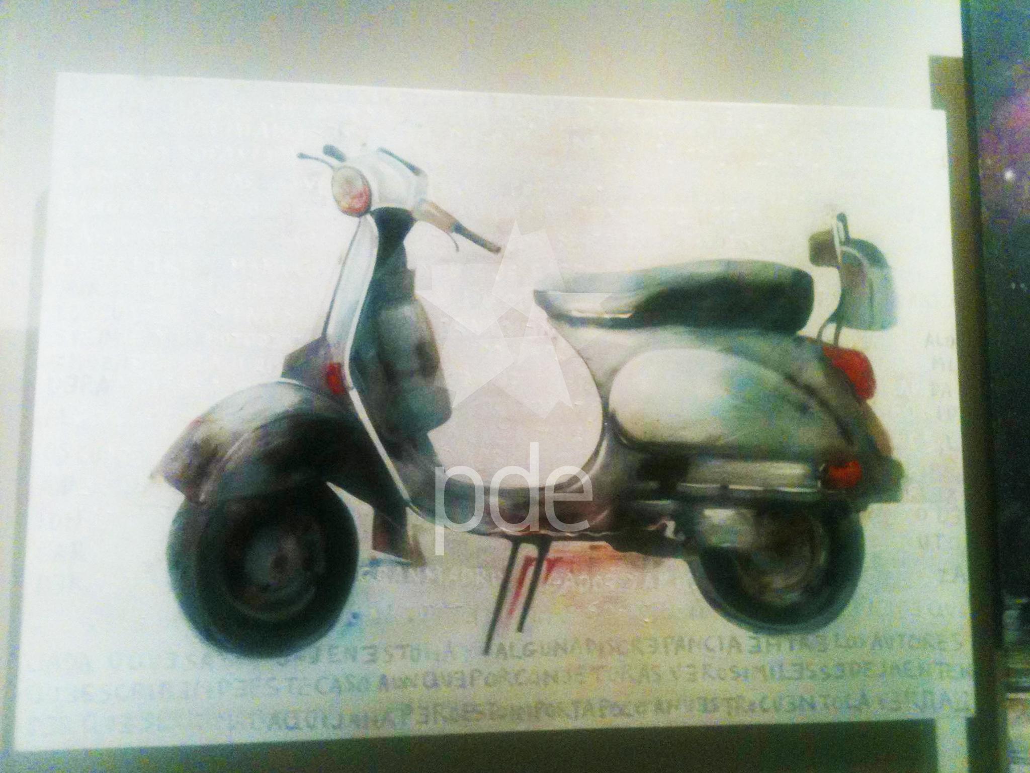 La motoneta modelo vespa, ideadda como una nueva versión del corcel Rocinante