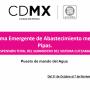 EMERGENCIA: Relación Colonias en la CDMX sin AGUA por REPARACIÓN CUTZAMALA